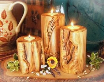 A Taste of the Rockies!/Easter Centerpiece/ Wood Candle/ Rustic Centerpiece/Rustic Easter Centerpiece