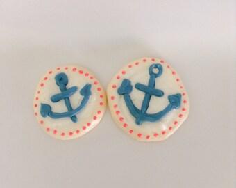 Meringue cookie Nautical theme