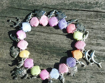 Cute Mermaid and Ocean Charm Bracelet