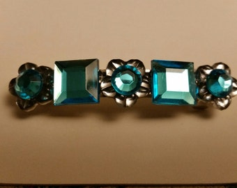 Blue Jewel Hair Barrette