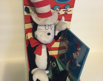 Vintage Dr.Seuss Cat In The Hat Book and  Plush