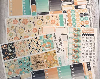 Wander---- Weekly Planner Kit ---- {Includes 210+ Stickers}