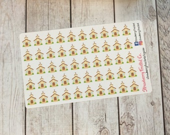 Church Themed Planner Stickers - Made to fit Vertical or Horizontal Layout