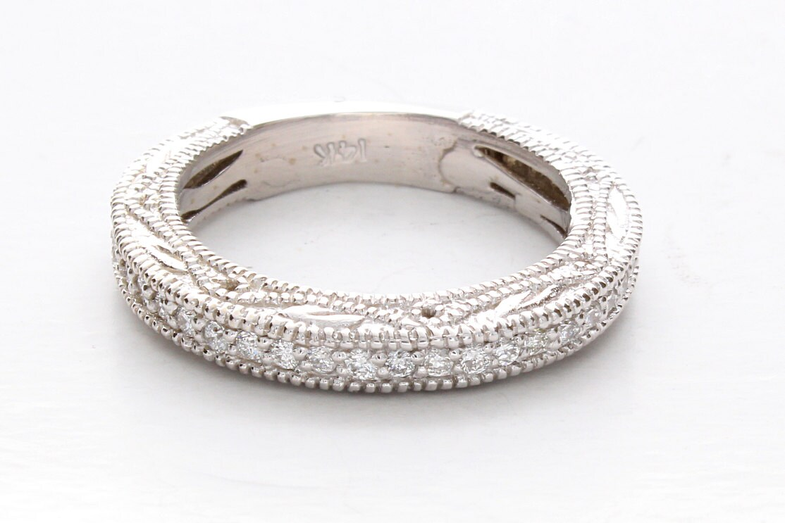 Diamond Filigree Wedding RingFiligree Wedding Band Vintage