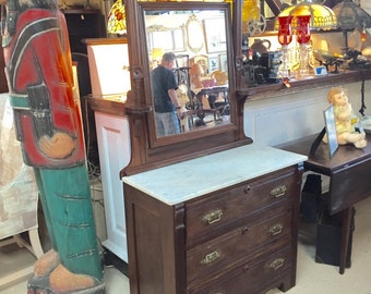 Eastlake Dresser, Swivel Mirror