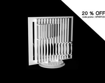 20% OFF - CODE: OPART20 | Object sculpture Op Art, Hajo Heinecke, 2014 / mobile / Architecture duck Lyon