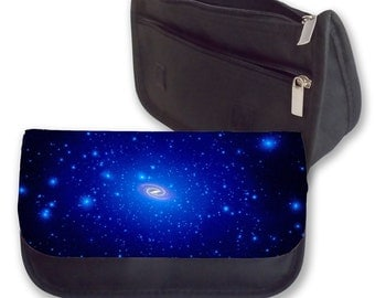 Galaxy Blue Pencil case / make up bag