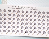 Dusting Chore Planner Stickers Decorative Edition