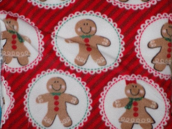 Dog Jammies Gingerbread Men fleece