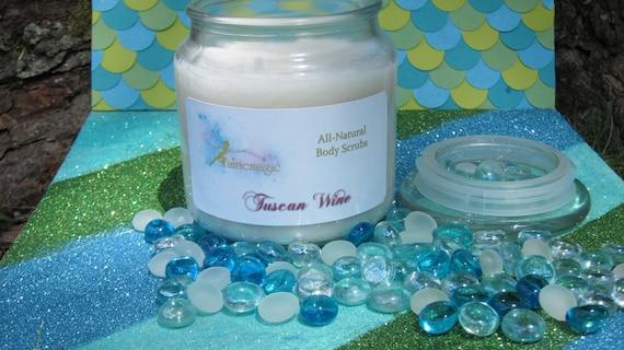All Natural TUSCAN WINE Sugar Scrub, Handmade by a Certified Esthetician 8 oz/16 oz