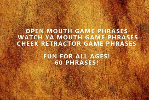 ellen game with mouth retractor game