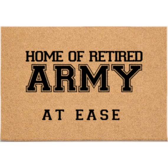 Dm9010 24 X 36 Duracoir Retired Military Doormat Army