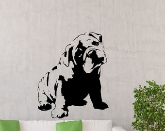 Englisch Bulldog Wand Aufkleber Hund Poster Schablone Tier Haustiere Vinyl Home Kinder Baby Zimmer Kinderzimmer