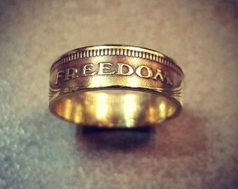 Coin Ring Double Sided Freedom Ring