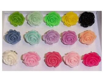 Shabby Rose Push Pins