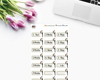 WEDDING Countdown Planner Stickers - CAM WEDDING