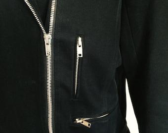 Jacket BCBG black/ Vintage Jacket Black/ Vintage BCBG Jacket/ Vintage Black Jacket/ Vintage Jacket with Zippers