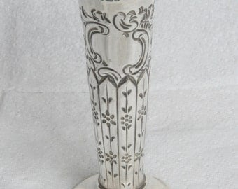 Solid Silver Embossed Vase made in 1894