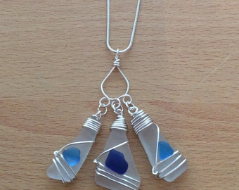 Sea Glass Trio necklace