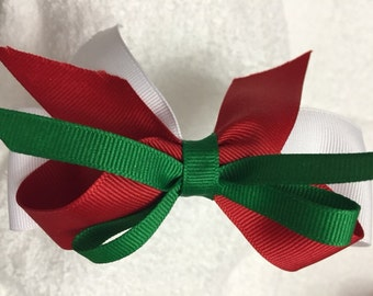 Headband (Green, Red and white)