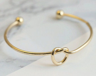Love Knot Bangle Bracelet , Worldwide Shipping, Perfect Gift, Free Shipping