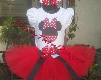 Minnie mouse birthday tutu