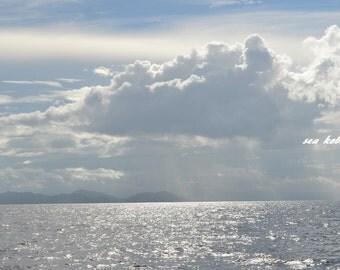 Rain Photography, Ocean Photography, Sky Photography, Rain Clouds Photography