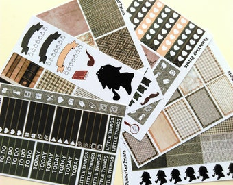 Sherlock Holmes Weekly Sticker Set Perfect for your Erin Condren, Happy Planner, Plum Paper Planner or any Other Planner