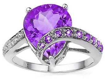 Very Exclusive Diamonds and Amethysts in this Ring Size O