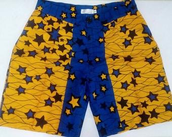 Ankara shorts/ African wax print shorts