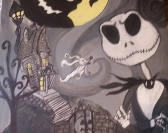 Nightmare Before Christmas by Bambi Dawn Painting Original