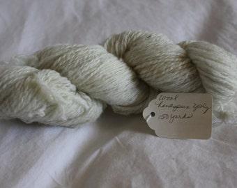 1 Skein, All Natural Handspun 100% Wool, 2 Ply, 150 yards, 1.3 oz.