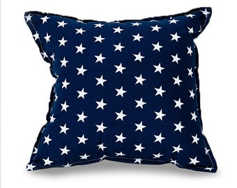 Navy stars Square pillow