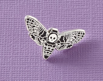 Death Head Moth Enamel Pin // Butterfly enamel pin // Deathhead Moth Pin, black butterfly//EP039