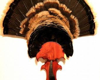"""Turkey Fan & Beard Mounting Kit """"Spurred"""" - Wood = Aromatic Cedar"""