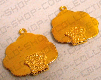 23mm Tree Pendant, Alloy Gold  Color