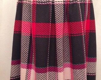 ON SALE 1980's Plaid Skirt- 1980's skirt