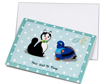Greetings Card - Max and Mr Poop - Acorn Crescent Characters