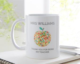 Teacher Gift   Teacher Thank You Gift    Personalised Teacher   Teacher Present   Thank You Gift for Teacher   Personalised Mug