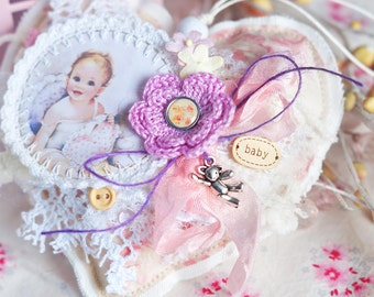 IN STOCK Soft suspension, heart ornament, wedding decoration, home decor, valentines day/birthday/christmas/housewarming/baby/It's a Girl