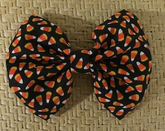 Large Candy Corn Halloween Bow