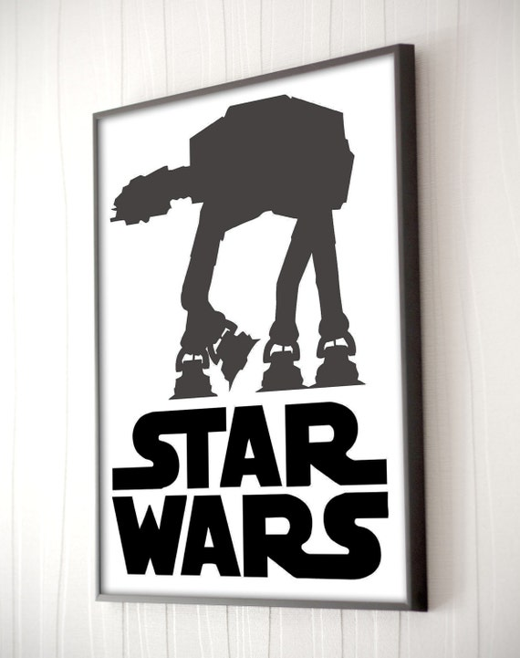 Star wars printable wall art home decor poster by for Star wars home decorations