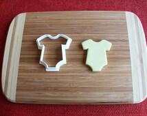 Baby Onesie Cookie Cutter Newborn Romper Shirt Baby Shower Cake Topper Fondant Cutter Cupcake Topper Gingerbread cutter