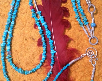 Morenci Turquoise Necklace and Bracelet Set