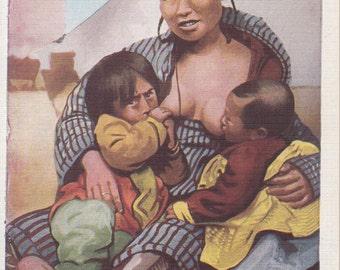 Alaskan Vintage Postcard - Mickaninie's Kow Kow