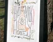 "13""x19""—Land of Milk and Honey Art Print"