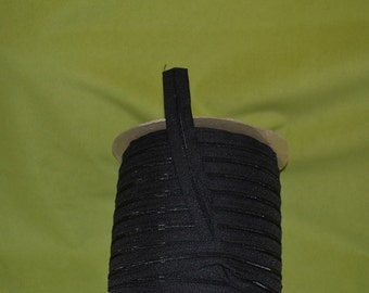 no 3 black  open end  zip  by the yard