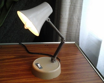70s Folding Task Light, Small Desk Light, Vintage Folding Lamp