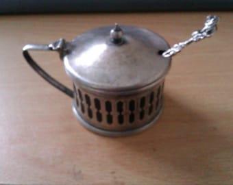 vintage mustard pot