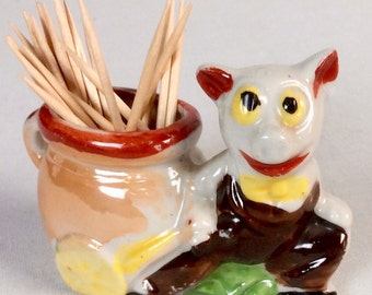 Occupied Japan Piggy Toothpick Holder